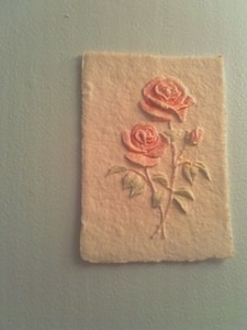 Pressed Cotton Roses