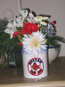 Red Sox Vase -Spoon Holder