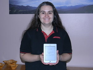 Jen won a Kindle from IEEE!