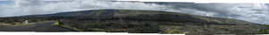 Volcano National Park Panoramic - Lava Flows