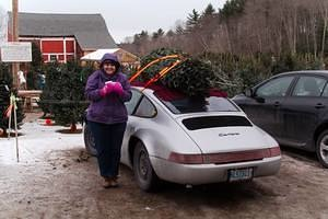 2013 Christmas Tree Pickup in the Porsche