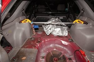 Interior, From Trunk, Car Cover, Battery in Rear