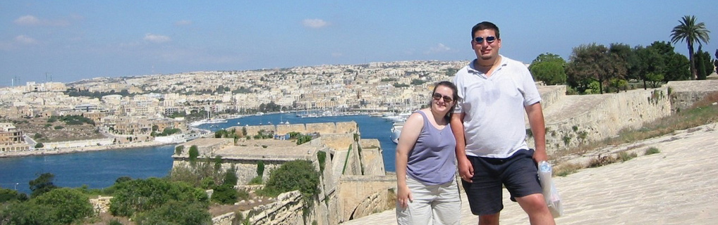 Our honeymoon was spent in Malta.